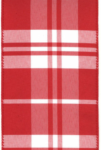 Canvas Plaid, Red/White