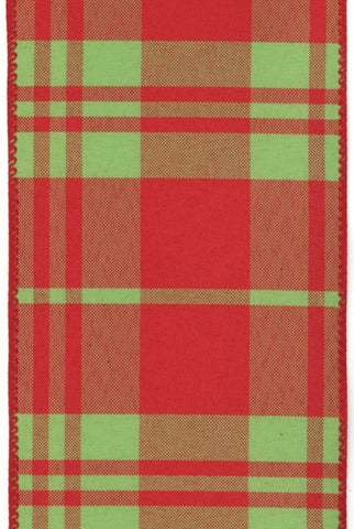 Canvas Plaid, Red/Green
