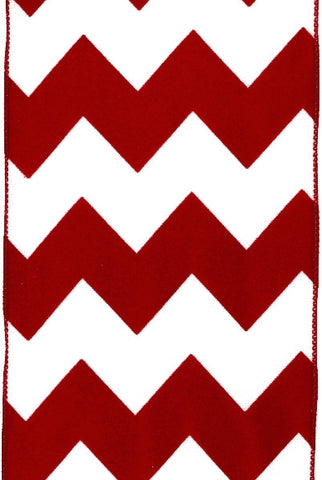 Polyester Bold Chevron, Red White