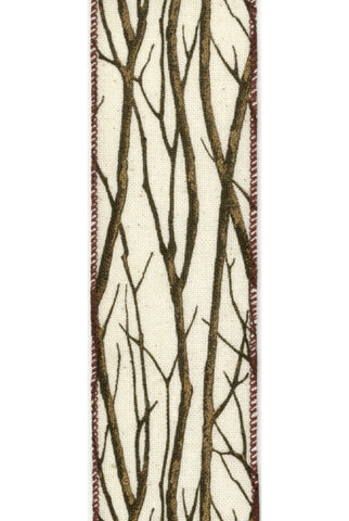 Linen With  Trees, Canvas, Brown