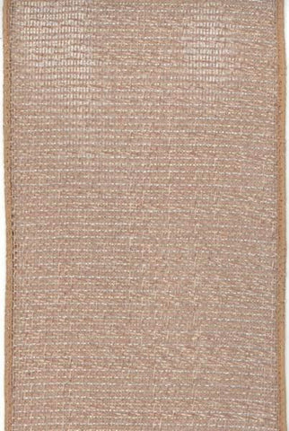 Linen Mesh, Taupe/Silver
