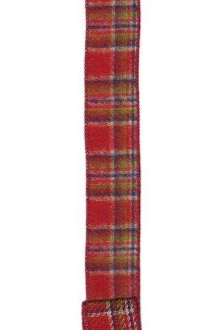 Faux Wool Plaid Cranberry Apple