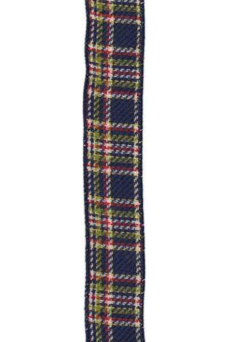 Faux Wool Plaid Apple Navy