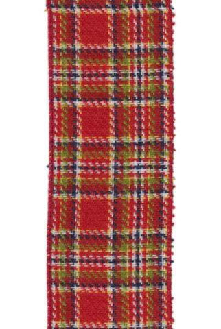 Faux Wool Plaid Apple Red
