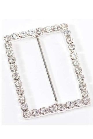 Crystal Buckle, Silver..