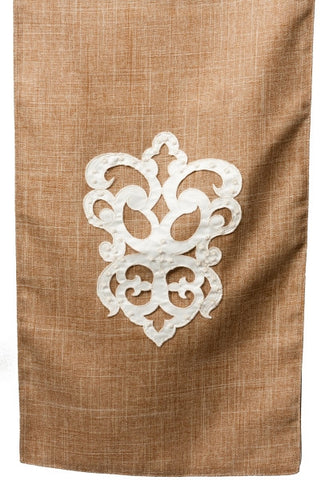 Linen Flourish Applique Table Runner...Designed By D.Stevens