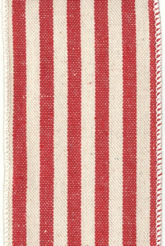 Stripes Canvas Red,Cream...Designed By D.Stevens