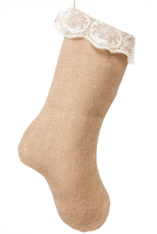Burlap Gossamer Lace, Stocking...Designed By D.Stevens