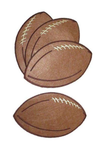 Felt Football Coaster,  Brown,  Set,4...Designed By D.Stevens