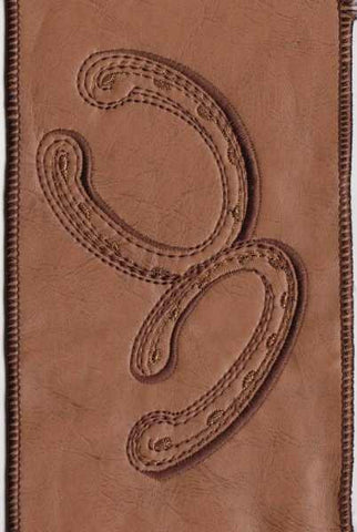 Faux Leather Embroidery Horseshoe Buckskin
