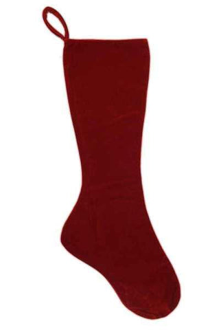 Velvet Stocking Red