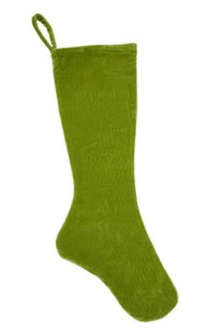 Velvet Stocking Bright Green