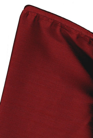 Faux Taj Mahal Christmas Tree Skirt With Welting, Burgundy