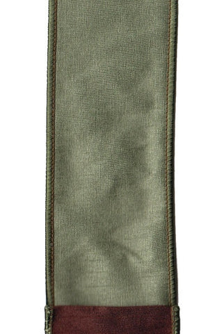 Faux Dupioni Double Sided, Spruce Green,Brown