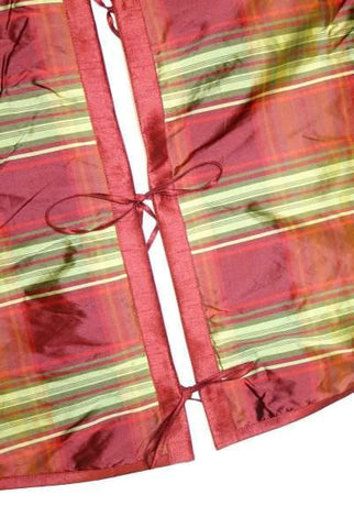 Taffeta Plaid Tree Skirt Red Green Burgundy