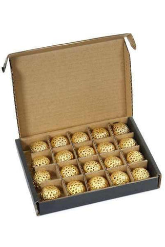 Metal Round Light Cover Box Of 20 Gold