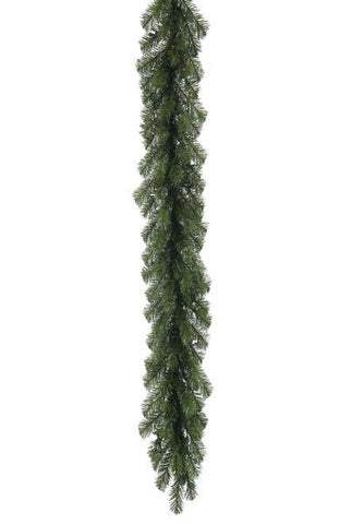Natural Pine Pvc Garlands 180 Tips With 100 Clear Lights