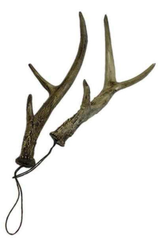 Shatterproof Deer Antler Ornament, Natural, Pair Of 2