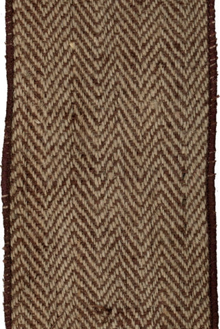 Burlap Herringbone, Brown