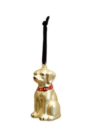 Glass Labrador Dog Christmas Ornament Golden (Must Be Sold In Multiples Of 6)