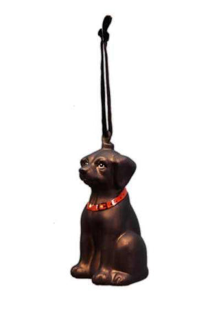 Glass Labrador Dog Christmas Ornament Chocolate (Must Be Sold In Multiples Of 6)