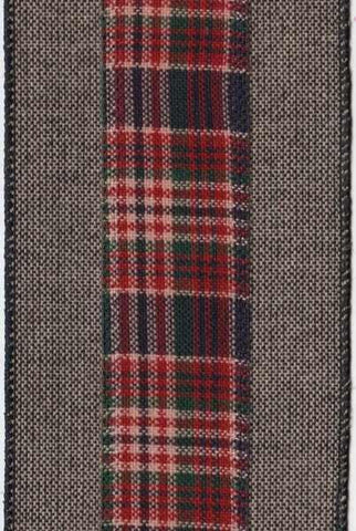 Hopsack Plaid/Tweed Edge Black/Red