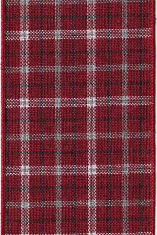 Hopsack Plaid Grey/Red