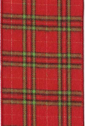 Flannel Mcqueen Plaid, Green/Red