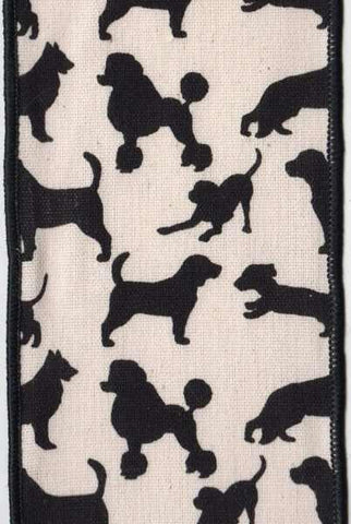Canvas Dogs, Black/Off White