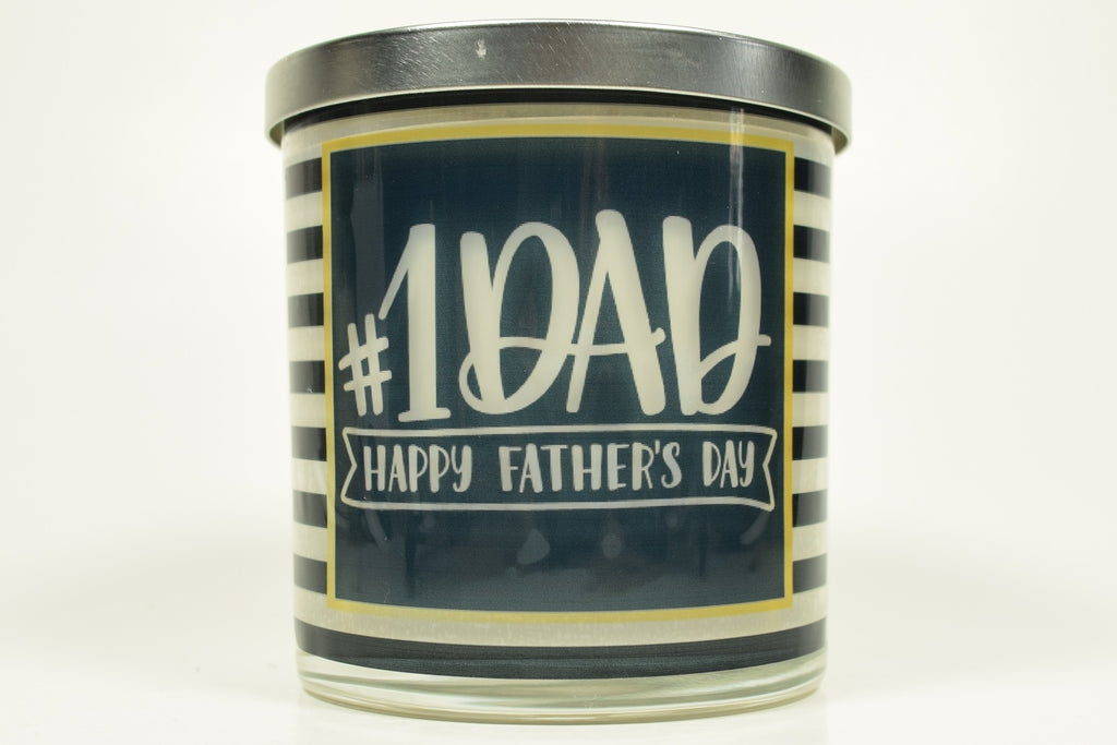 #1 Dad Happy Father's Day Candle