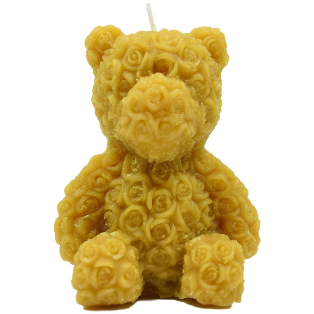 Real Beeswax Rose Bear Candle - Beeswax Candles, Handmade Candle, Candles, Beeswax Decoration Candle, Fancy Candles