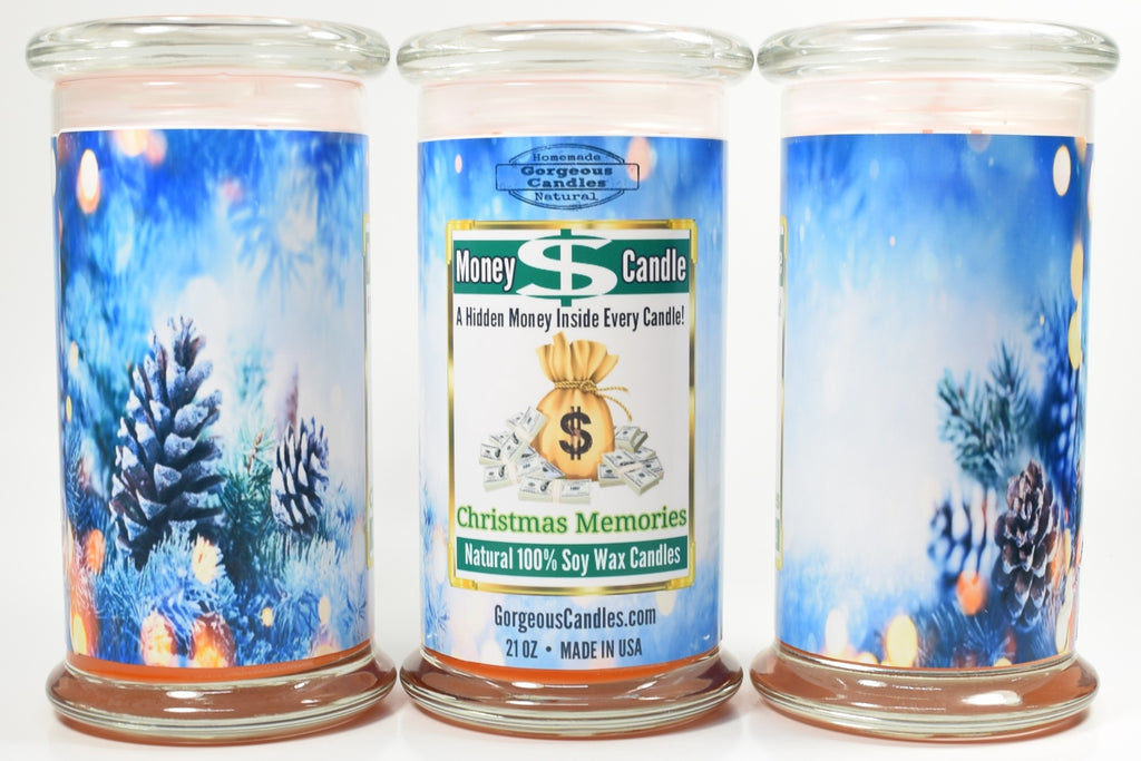 Christmas Memories Money Candle
