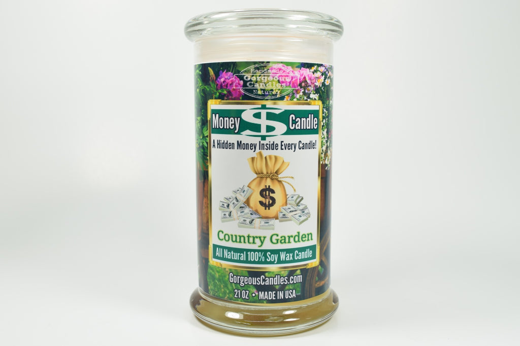 Country Garden Money Candle