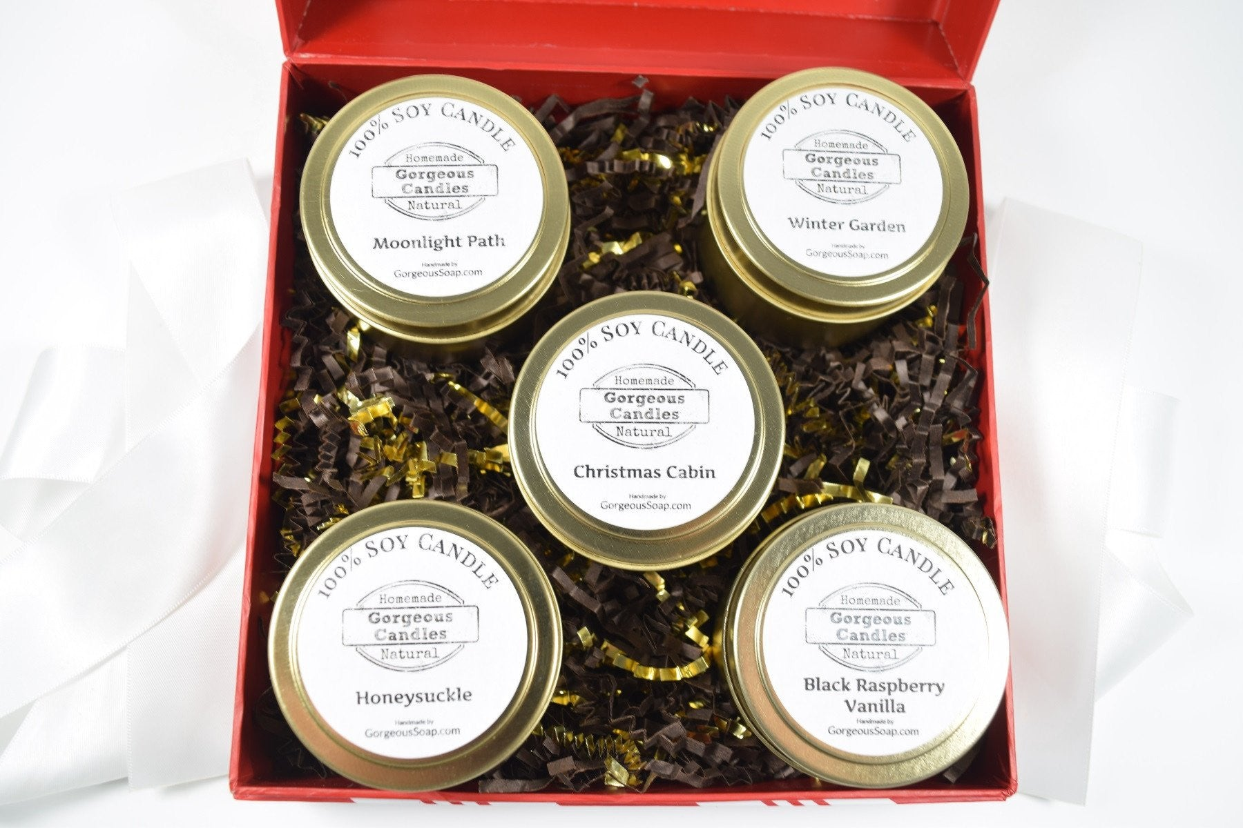 Candle Gift Box Set Gorgeous Soap