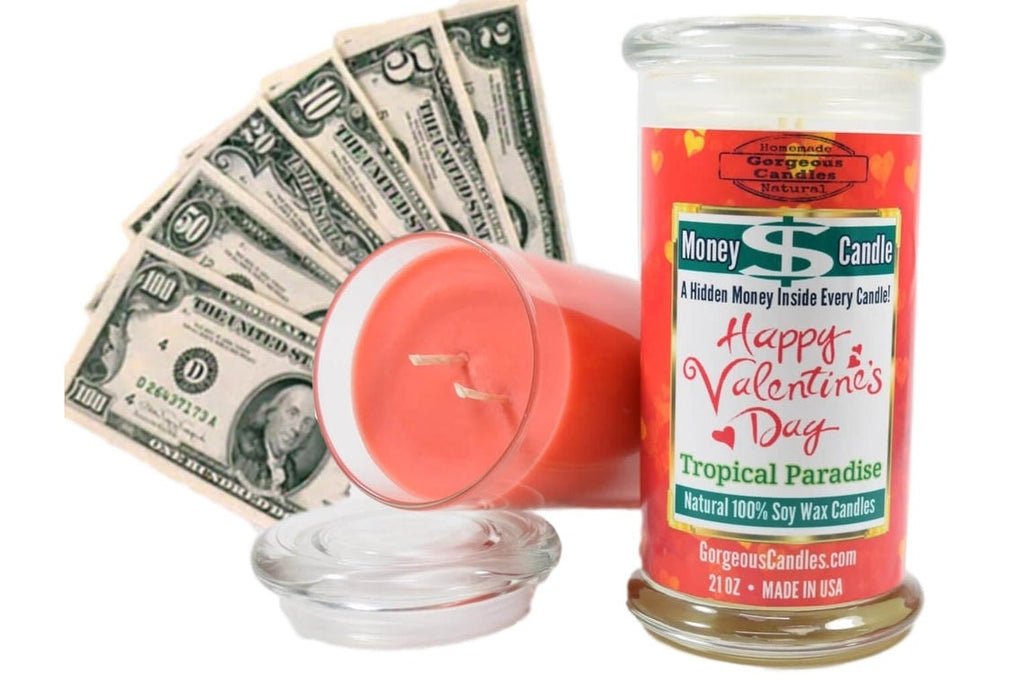 Valentines Day Money Candle