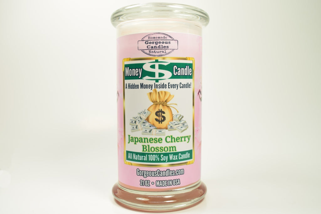 Japanese Cherry Blossom Money Candle