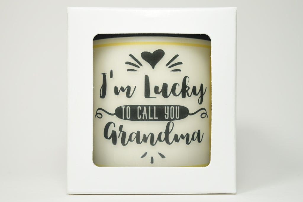 I'm Lucky To Call You Grandma Soy Candle
