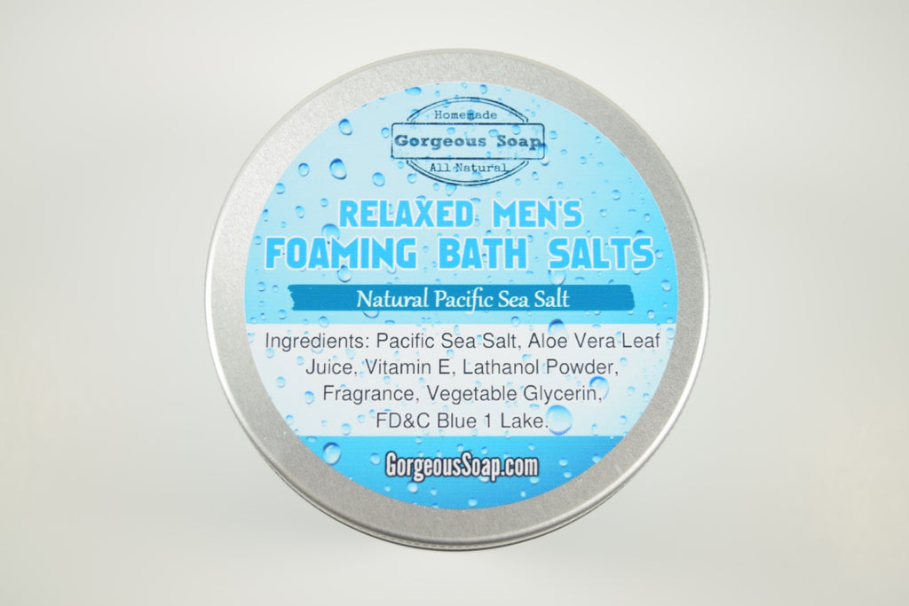 Relaxed Men's Foaming Bath Salts