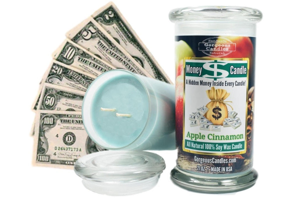 Apple Cinnamon Money Candle