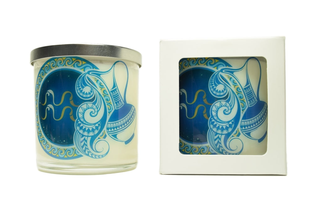 Aquarius Zodiac Natural Soy Candles