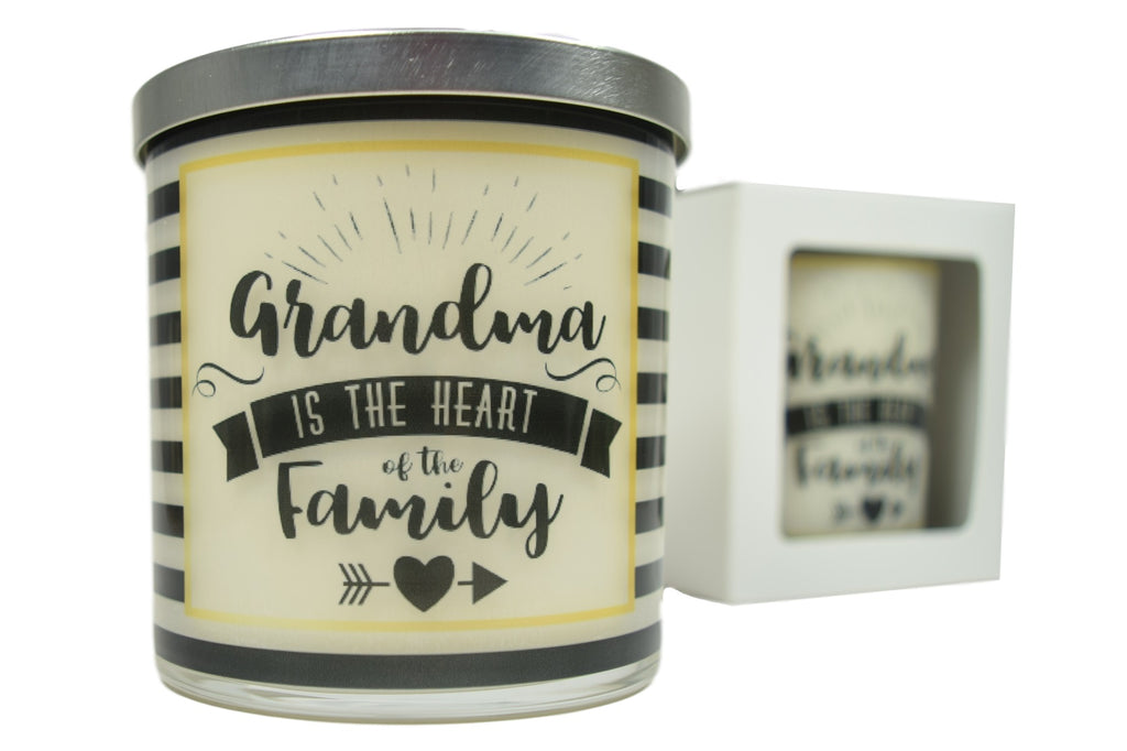 Grandma Is The Heart Of The Family Soy Candle