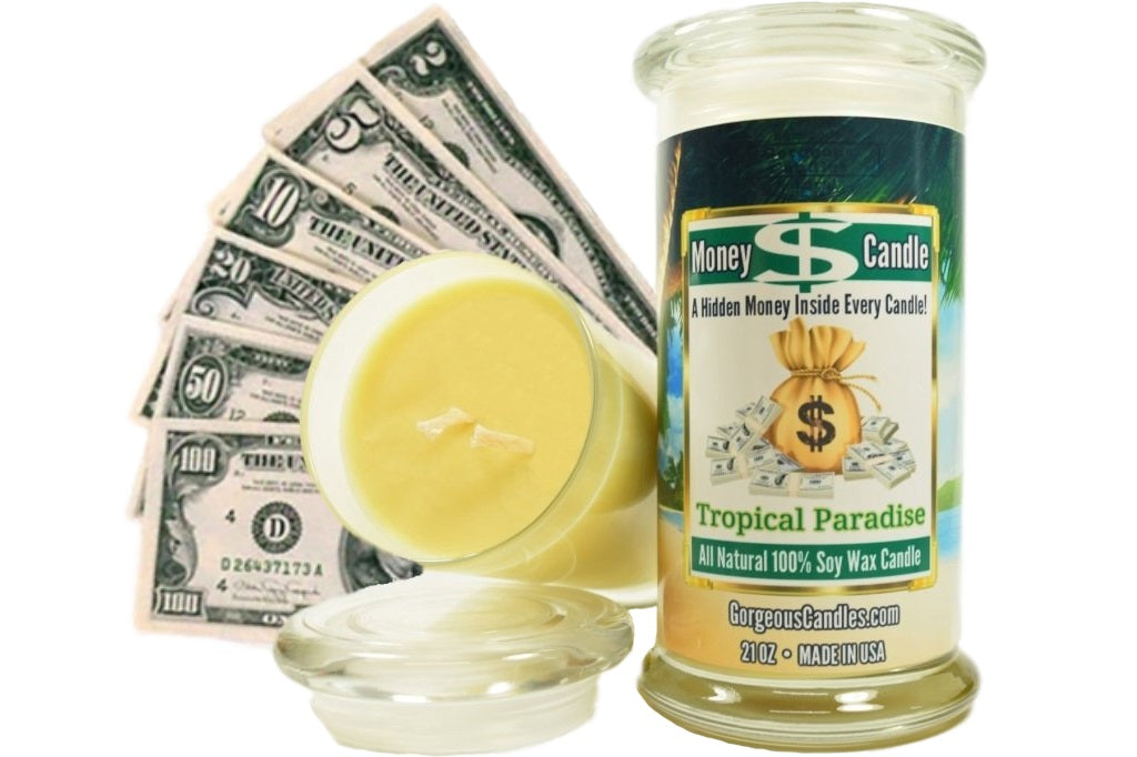 Tropical Paradise Money Candle
