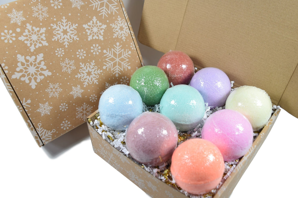 Bath Bomb Gift Box With Christmas Box