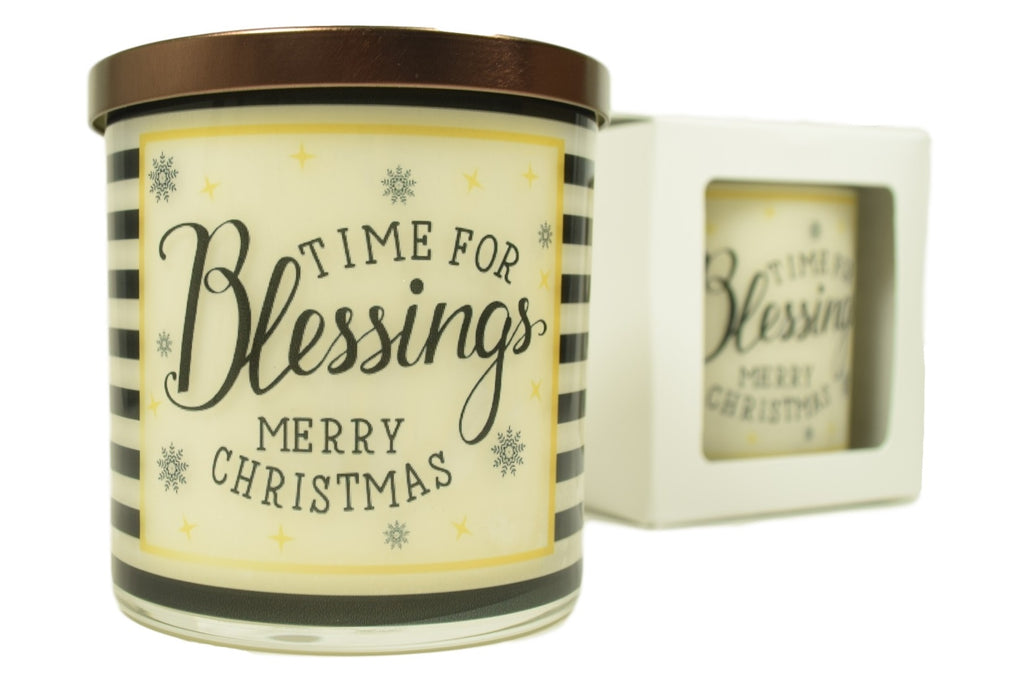 Time For Blessings Merry Christmas Soy Candle