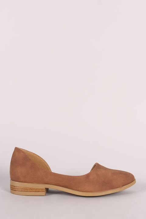 Qupid Open Shank Dorsay Oxford Flat