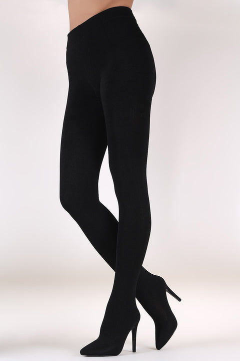 Stretched Kit Pointy Toe Stiletto Legging Boots