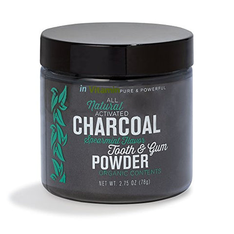 Natural Whitening Tooth & Gum Powder with Activated Charcoal (2.75 oz Spearmint),  - Avenue Of Angels