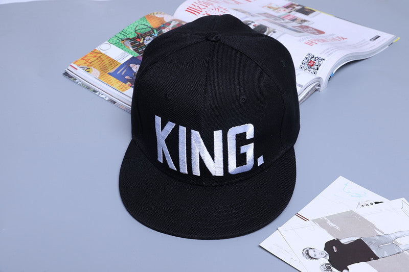 KING QUEEN Embroidery Snapback Caps,  - Avenue Of Angels