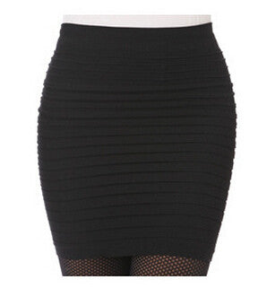 Bandage Slim Bodycon High Waisted Mini Skirt,  - Avenue Of Angels