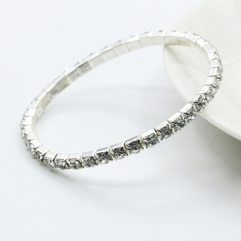 Elegant Full Drill Rhinestone Stretch Bracelet,  - Avenue Of Angels